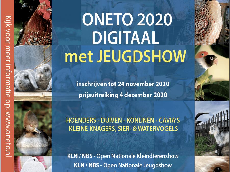 Download hier het vraagprogramma van Oneto 2020 DIGITAAL